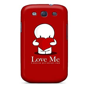 Durable Defender Case For Galaxy S3 Tpu Cover(love Me)