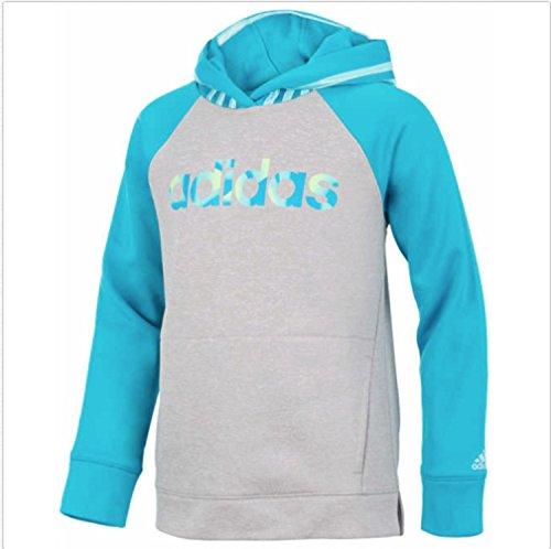 adidas Youth Girls Tech Fleece Performance Hoodie (Medium 10/12, Green & - Kids Sweatshirt Fox