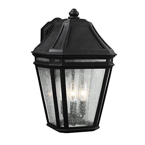11 1/2' Three Light (Feiss OL11302BK 3-Light Outdoor Sconce)