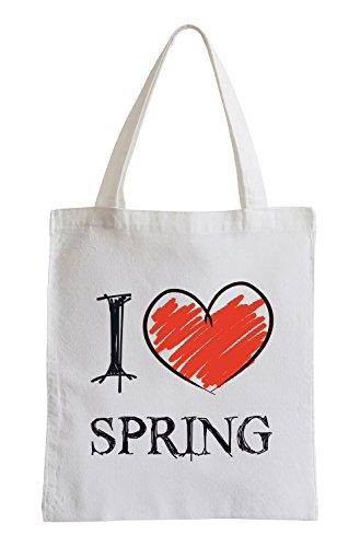 Amo Primavera Fun sacchetto di iuta