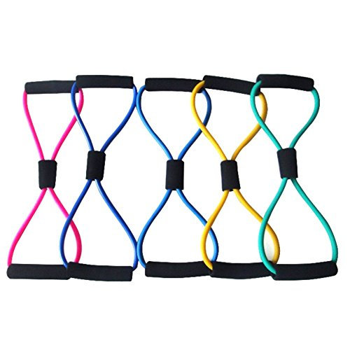 TD-OUTGO 1pc 8 Shaped Elastic Tension Durable Rope Chest Expander Sport Fitness Yoga Pilates Belt Body Shape Random Health Care