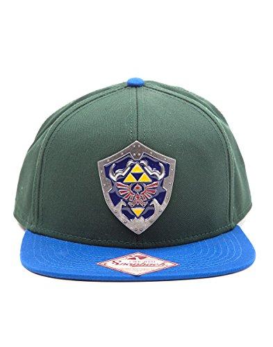 Cap Zelda Metal azulado Zelda Legend Snapback of Verde Shield The Verde Azulado xEAqfZ0nwn