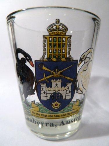 Canberra Australia Coat Of Arms Shot - Canberra Glasses