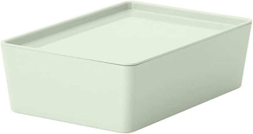 Ikea Kuggis 004.083.39 - Caja de Almacenamiento con Tapa, Color Verde Claro, tamaño 7 x 10 1/2 x 3 1/2 Pulgadas: Amazon.es: Hogar