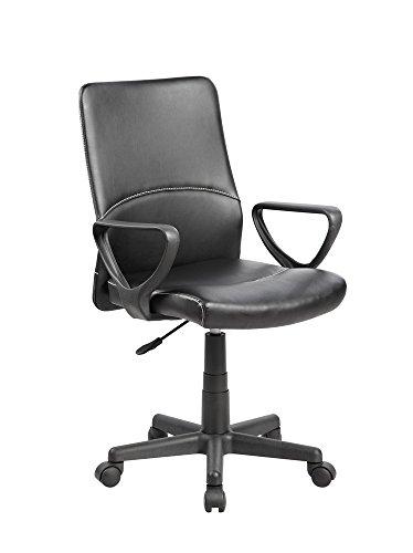 eurosports Task Chair UOC-8048-BK Modern Ergonomic Mid-Back Computer Desk Office Chair,Black
