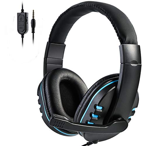 SOONHUA Xbox One,PS4 Gaming Headset with Mic,Over-Ear Noise Isolation Bass Gaming Headphones with Microphone, Surround Sound,Volume Control, Soft Memory Earmuffs for PC/Computers/Laptops/Phones