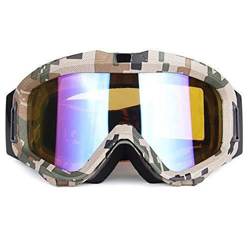 LAIABOR Gafas De Esquí Motocicleta Motocross para Hombres Mujeres Jóvenes Patinaje De Esquí De Motos De Nieve,6