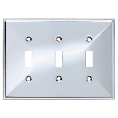 Franklin Brass 135881 Beverly Triple Toggle Switch Wall Plate / Switch Plate / Cover
