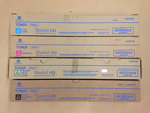 Konica Minolta TN321 CMYK Toner Set for Bizhub C224 C284 C364 Genuine