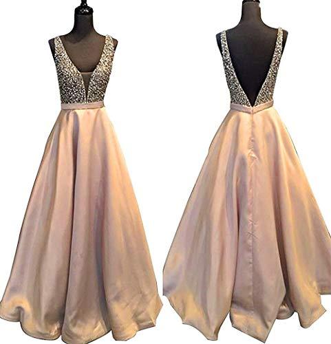 Baijinbai Lang Ballkleid Kleider Brautjungfernkleider Pailetten 2018 Cocktail Elegant S5Altrosa besetzte Damen Abendkleider rxaCqrETwB