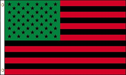 3x5 USA Afro American Flag House Banner Grommets Black Lives Matter Panther Flag Double Stitched Fade Resistant Premium Quality