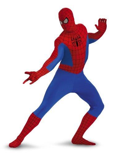 Skin Tight Spiderman Costumes - Spider-Man Deluxe Bodysuit Tween Costume -