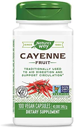 Natures Way Cayenne H U capsules