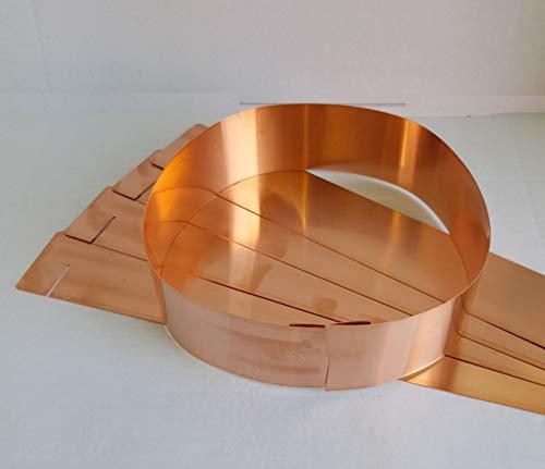 17.5cm Longyee 10x Copper Slug Organic Protection Band Rings 7-Inch
