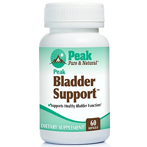 Peak Bladder Support by Peak Pure & Natural® for Overactive Bladder and Bladder Control | Go-LessTM for Urge Incontinence and Leak Accident Protection | Soylife® and EFLA® ()