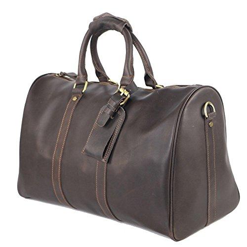 Brown Bag Gran DHFUD De Handbag Boston Mens Capacidad naxx76z0