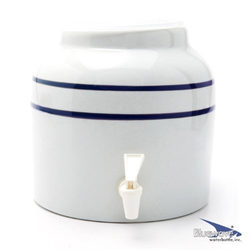 - Bluewave Lifestyle Stripe Design Water Dispenser Crock, Blue - PKDS171