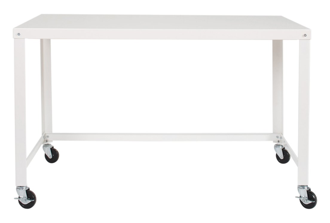 """Office Dimensions 21647 Black RTA 48"""" Wide Mobile Metal Desk Workstation Home Office Collection"""