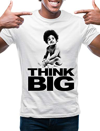 Swag Point Hip Hop T-Shirt - Funny Vintage Street wear Hipster Parody (M, Baby Big-WHT)