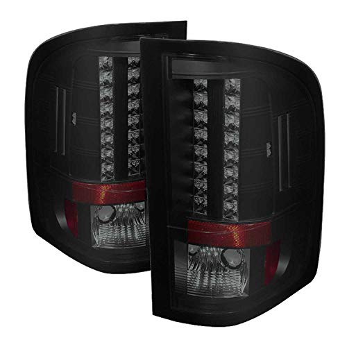 (Spyder Auto 5078032 LED Tail Lights Black/Smoked)