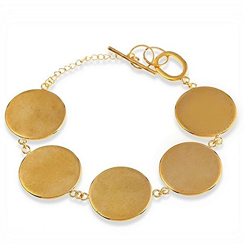 Gold Plated Round Cabochon Disc Blank Setting Bezel Pad Bangle Bracelet Base 16mm for DIY Jewelry Making Finding 10piece/BB36