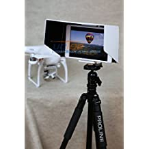 Summitlink® (P2W10CA) 10 Inch Tablet iPad Sun Hood Sun Shade (Fits up to 11 inch) White with Tripod Mount for all version iPad 1 2 3 Air 2 Compatible with DJI DJI Phantom 3 Professional Advanced Inspire 1 Phantom 2 Vision+ FC40 Transmitter