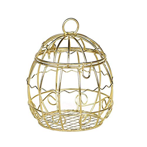 ( Orcbee  _Hollow Bird Cage Wedding Party Gift Box Container Tinplate Candy Chocolate Boxes)