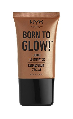 NYX PROFESSIONAL MAKEUP Born To Glow Liquid Illuminator, Pure Gold, 0.60 Ounce