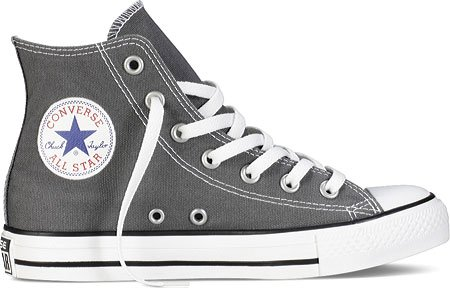 Converse Chuck Taylor All Star Hi, Zapatillas de tela unisex Carbón