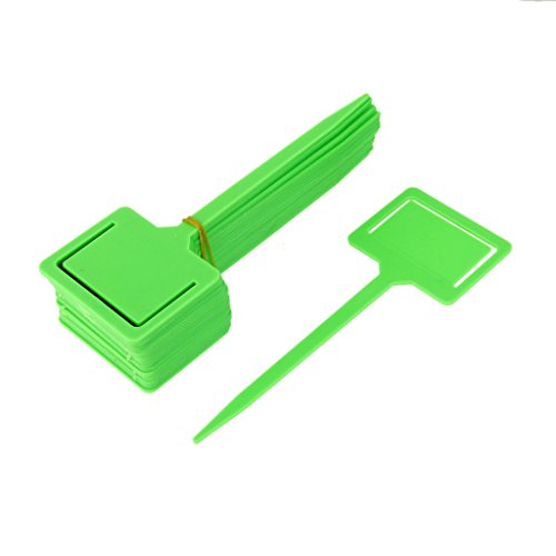 Seed Packet Markers - MagiDeal 20x Plastic Tags Markers Garden Seed Packet Plant Flower Labels Holder Green