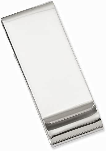 Stainless Steel Polished Double Fold Engravable Money Clip