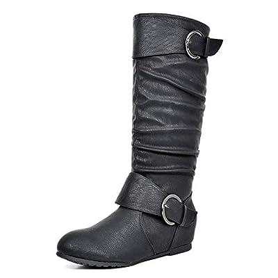 DREAM PAIRS Women's Knee High Wedge Heel Boots