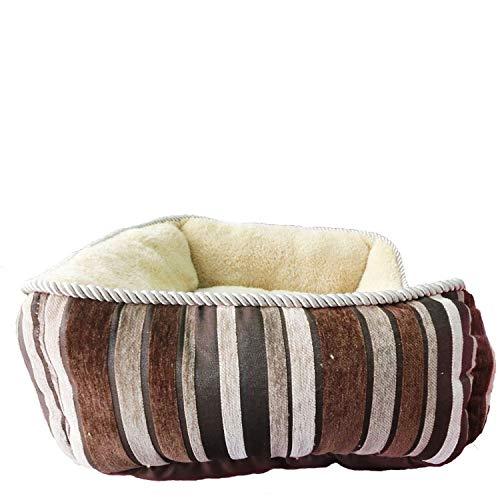 Coffee stripes CHONGWUCX Dog cat sleep bed small pet bed