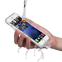 iPhone 6/6s Waterproof Case, KOOCO Waterproof Shockproof Dustproof Touched ID Fingerprint Full Sealed Protection Cover for iPhone 6/6S 4.7''(iPhone6/6s, clear)