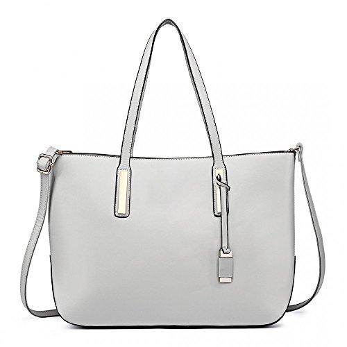 Miss Lulu - Bolsa Niñas Mujer Grey (3-IN-1)