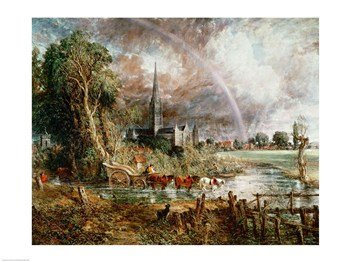 Salisbury Cathedral From the Meadows 1831 Poster Print by John Constable (24 x 18)