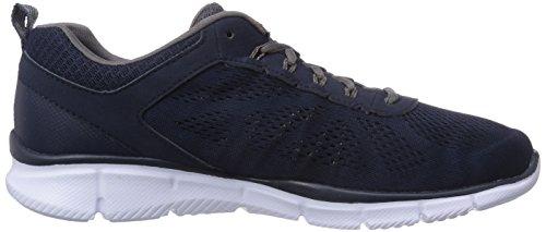 Skechers EqualizerDeal Maker - zapatilla deportiva de material sintético hombre, color azul, talla 40