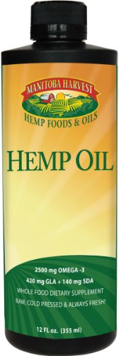 Manitoba Harvest Cold Pressed Hemp Seed Oil, 12 fl. oz., 10g of Omegas per Serving, Non-GMO