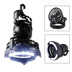 This is a very versatile light/fan for both camping and emergency situations. The light is very bright and will illuminate a camper or a small room in your house. The fan moves the air adequately to keep you cool in the heat when your power i...
