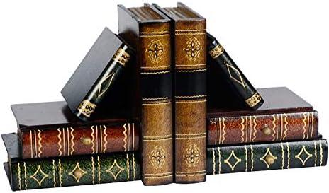 Sujetalibros de libro de arte, decoración de libros, juego de ...