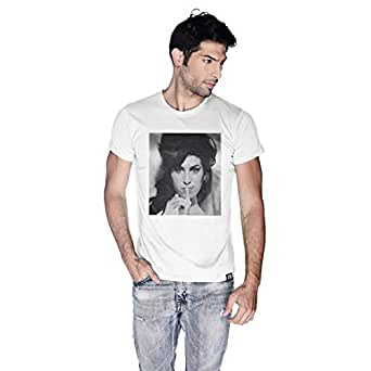 Creo Amy Winehouse T-Shirt For Men - S, White