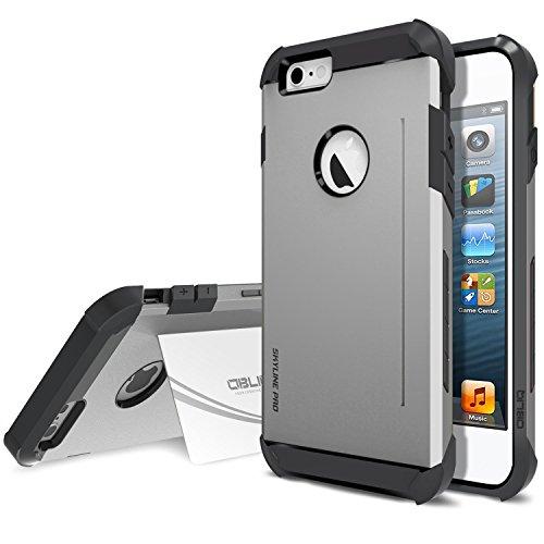 Obliq SkyLine Pro OBIP6SLP07 Heavy Duty Scratch Resist Kickstand Protective Slim Fit Armor Mobile case for iPhone 6 / 6s - SK Gun Metal
