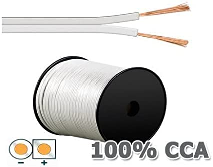 MANAX 10 m speaker cable 2 x 4,0 mm/² white
