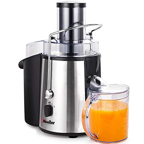 """MUELLER Juicer Ultra 1100W Power, Easy Clean Juice Extractor Press Centrifugal Juicer Machine, Wide 3"""" Feed Chute for Whole Fruit Vegetable, Anti-drip, High Quality for Fruits and Vegetables, BPA-Free by Mueller Austria (Image #8)"""