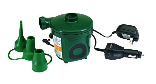 e Electric Air Pump to Inflate/Deflate Inflatable Boats, Mattresses and other Recreational Inflatables (120 Volt Ac Rechargeable Pump)
