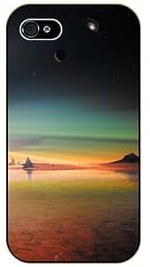 Colorful Seaside - Fantasy Space Landscape - Bible verse iPhone 5C black plastic case