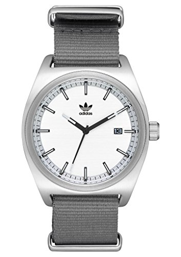 adidas Watches Process_W2. NATO Nylon Strap, 20mm Width (Silver/Black/Gray. 40 mm). ()