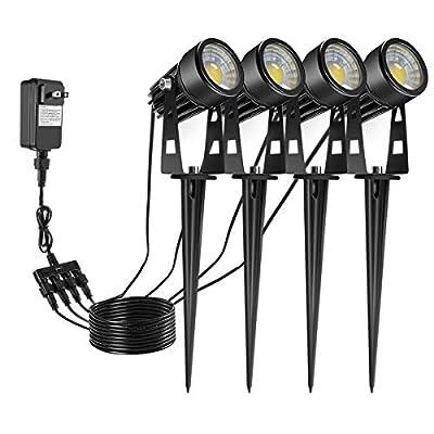 ECOWHO Landscape Lighting, 12V LED Landscape Lights Plug in Low Voltage Lighting Waterproof Outdoor Spotlights for Path Flood Yard Garden