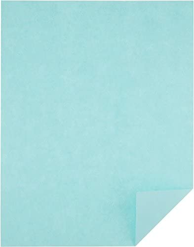 Amazon Basics 50% Recycled Color Printer Paper - Blue, 8.5 x 11 Inches, 1 Ream (500 Sheets)