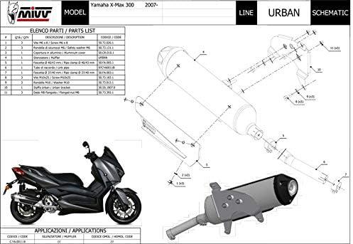 Pot /échappement X-MAX 300 2019 2020 Urban MIVV RC